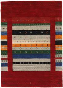 Loribaf ルーム Designer 絨毯 140X200 モダン 深紅色の/赤 (ウール, インド)