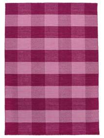 Check Kilim 絨毯 120X180 モダン 手織り ピンク/ライトピンク (ウール, インド)