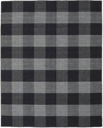Check Kilim 絨毯 190X240 モダン 手織り 濃いグレー/黒 (ウール, インド)