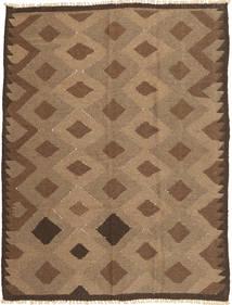 キリム 絨毯 143X191 オリエンタル 手織り 茶/薄茶色 (ウール, ペルシャ/イラン)