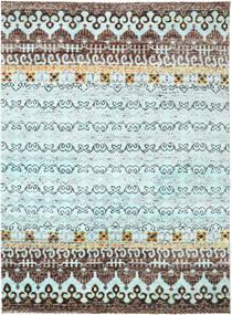 Quito - L. 青 絨毯 240X290 モダン 手織り 水色/濃いグレー (絹, インド)