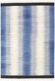Ikat - 青 絨毯 160X230 モダン 手織り 青/ベージュ (ウール, インド)
