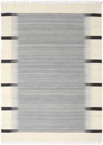 Ikat - グレー 絨毯 210X290 モダン 手織り ターコイズブルー/ベージュ (ウール, インド)