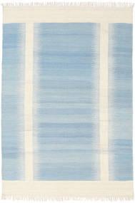 Ikat - 薄い 青 絨毯 140X200 モダン 手織り 水色/ベージュ (ウール, インド)