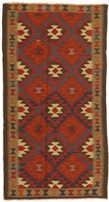 キリム マイマネ 絨毯 104X196 オリエンタル 手織り 赤/濃い茶色 (ウール, アフガニスタン)