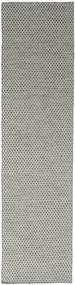 キリム Honey Comb - グレー 絨毯 80X340 モダン 手織り 廊下 カーペット 薄い灰色/濃いグレー (ウール, インド)