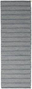 キリム Long Stitch - 青 絨毯 80X240 モダン 手織り 廊下 カーペット 薄い灰色/青 (ウール, インド)