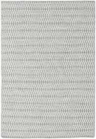 キリム Long Stitch - グレー 絨毯 160X230 モダン 手織り 薄い灰色/ターコイズブルー (ウール, インド)