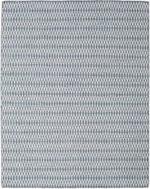 キリム Long Stitch - 青 絨毯 190X240 モダン 手織り 薄い灰色/水色 (ウール, インド)