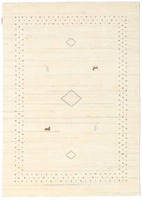 Loribaf ルーム Alfa - ナチュラル 絨毯 140X200 モダン ベージュ/ホワイト/クリーム色 (ウール, インド)
