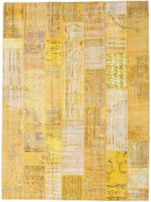 パッチワーク 絨毯 273X368 モダン 手織り 暗めのベージュ色の/黄色 大きな (ウール, トルコ)