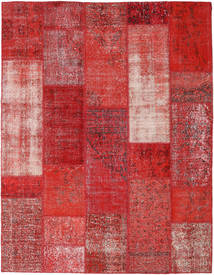 パッチワーク 絨毯 202X260 モダン 手織り 深紅色の/錆色 (ウール, トルコ)
