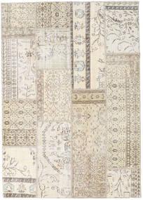 パッチワーク 絨毯 229X261 モダン 手織り 薄い灰色/ベージュ (ウール, トルコ)