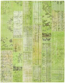 パッチワーク 絨毯 201X255 モダン 手織り ライトグリーン (ウール, トルコ)