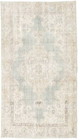 カラード ヴィンテージ 絨毯 112X200 モダン 手織り 暗めのベージュ色の/薄い灰色 (ウール, トルコ)