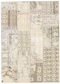 パッチワーク 絨毯 140X196 モダン 手織り ベージュ/薄い灰色 (ウール, トルコ)