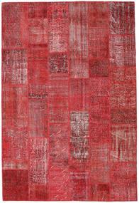 パッチワーク 絨毯 204X302 モダン 手織り 深紅色の/赤 (ウール, トルコ)