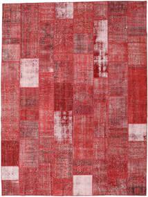 パッチワーク 絨毯 303X403 モダン 手織り 錆色/深紅色の 大きな (ウール, トルコ)