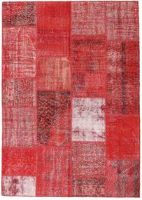 パッチワーク 絨毯 162X230 モダン 手織り 錆色/深紅色の/赤 (ウール, トルコ)