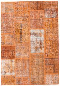 パッチワーク 絨毯 161X232 モダン 手織り 薄茶色/オレンジ (ウール, トルコ)