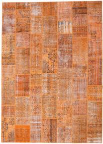 パッチワーク 絨毯 265X369 モダン 手織り 薄茶色/オレンジ 大きな (ウール, トルコ)