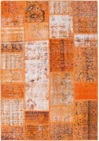 パッチワーク 絨毯 159X230 モダン 手織り オレンジ/薄茶色 (ウール, トルコ)