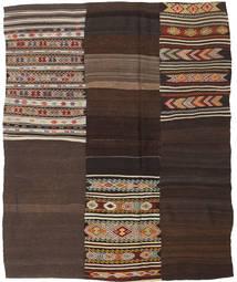 キリム パッチワーク 絨毯 198X239 モダン 手織り 濃い茶色 (ウール, トルコ)