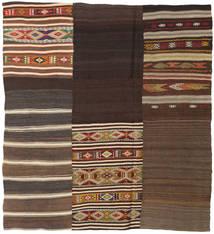 キリム パッチワーク 絨毯 187X207 モダン 手織り 濃い茶色/茶 (ウール, トルコ)