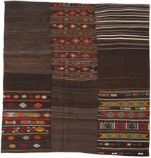 キリム パッチワーク 絨毯 208X212 モダン 手織り 正方形 濃い茶色 (ウール, トルコ)