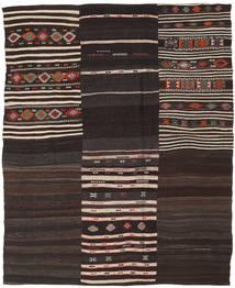 キリム パッチワーク 絨毯 193X238 モダン 手織り 濃い茶色/薄い灰色 (ウール, トルコ)
