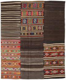 キリム パッチワーク 絨毯 194X234 モダン 手織り 濃い茶色/深紅色の (ウール, トルコ)
