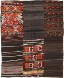 キリム パッチワーク 絨毯 207X239 モダン 手織り 濃い茶色 (ウール, トルコ)