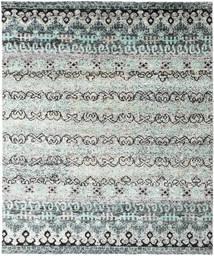 Quito - グレー 絨毯 240X290 モダン 手織り 薄い灰色/ターコイズブルー (絹, インド)