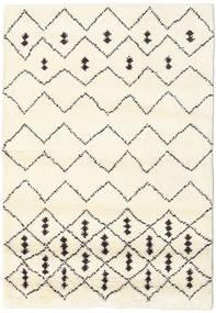 Berber インド - Off-白/黒 絨毯 120X180 モダン 手織り ベージュ/ホワイト/クリーム色 (ウール, インド)