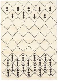 Berber インド - Off-白/黒 絨毯 140X200 モダン 手織り ベージュ/ホワイト/クリーム色 (ウール, インド)