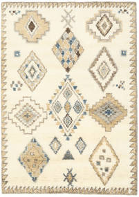 Berber インド - オフホワイト/ベージュ 絨毯 140X200 モダン 手織り ベージュ/ホワイト/クリーム色 (ウール, インド)