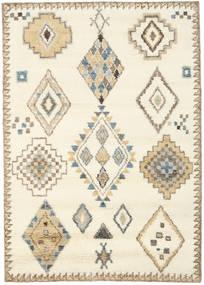 Berber インド - オフホワイト/ベージュ 絨毯 160X230 モダン 手織り ベージュ/薄茶色 (ウール, インド)