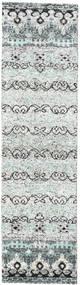 Quito - グレー 絨毯 80X300 モダン 手織り 廊下 カーペット ベージュ/薄い灰色 (絹, インド)