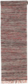 Vilma - 赤 Mix 絨毯 80X350 モダン 手織り 廊下 カーペット 濃い茶色/茶 (ウール, インド)