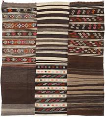 キリム パッチワーク 絨毯 211X232 モダン 手織り 濃い茶色/ベージュ (ウール, トルコ)
