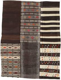 キリム パッチワーク 絨毯 202X260 モダン 手織り 濃い茶色/濃いグレー (ウール, トルコ)