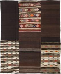 キリム パッチワーク 絨毯 208X259 モダン 手織り 濃い茶色/薄茶色 (ウール, トルコ)