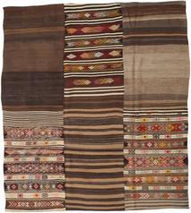 キリム パッチワーク 絨毯 228X257 モダン 手織り 濃い茶色/茶 (ウール, トルコ)