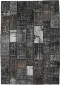 パッチワーク 絨毯 251X356 モダン 手織り 濃いグレー/黒 大きな (ウール, トルコ)