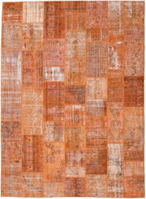 パッチワーク 絨毯 272X372 モダン 手織り 薄茶色/オレンジ 大きな (ウール, トルコ)
