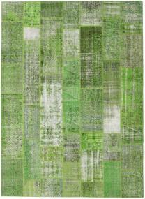 パッチワーク 絨毯 254X348 モダン 手織り 深緑色の/パステルグリーン/ライトグリーン 大きな (ウール, トルコ)