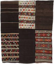 キリム パッチワーク 絨毯 209X255 モダン 手織り 濃い茶色/薄い灰色 (ウール, トルコ)