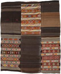 キリム パッチワーク 絨毯 212X252 モダン 手織り 濃い茶色/薄い灰色 (ウール, トルコ)