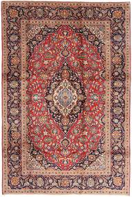 カシャン 絨毯 200X300 オリエンタル 手織り 深紅色の/濃い茶色 (ウール, ペルシャ/イラン)
