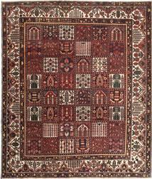 バクティアリ パティナ 絨毯 278X330 オリエンタル 手織り 深紅色の/茶 大きな (ウール, ペルシャ/イラン)